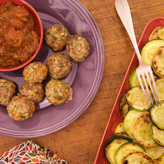 Bob Harper's Meatloaf Meatballs with Balsamic 'Ketchup' and Roasted Squash
