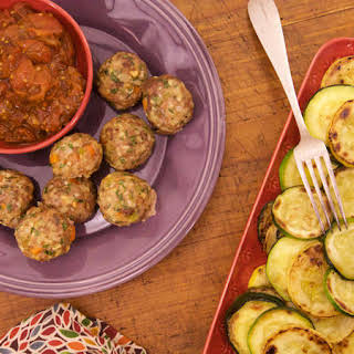 Bob Harper's Meatloaf Meatballs with Balsamic 'Ketchup' and Roasted Squash.