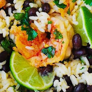 Cilantro-Lime Black Bean Shrimp and Rice.