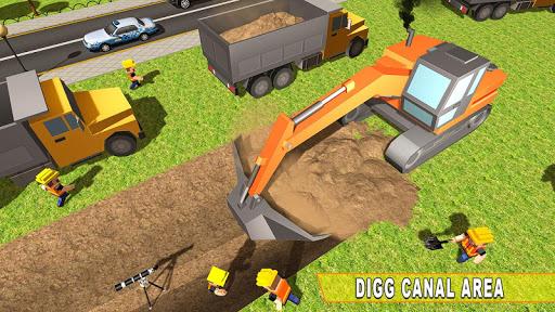 Mega City Canal Construction & Road Builder screenshots 12