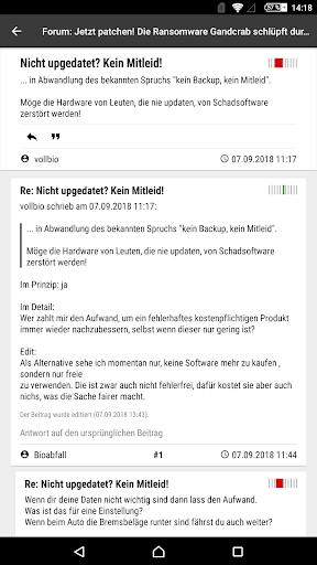heise online - News 3.4.2 screenshots 22