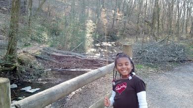 Photo: Kaleya near the creek