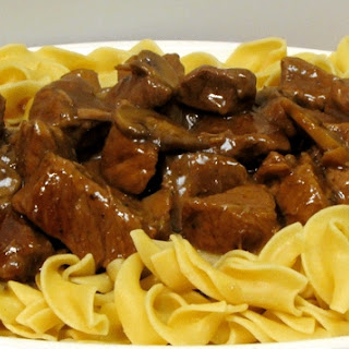 Slow-Cooker Beef Tips and Noodles.