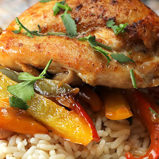 Creamy Skillet Chicken & Peppers.