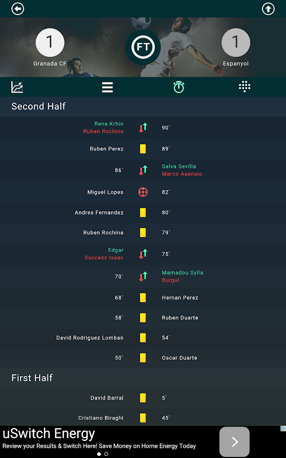 Football live scores & stats- screenshot