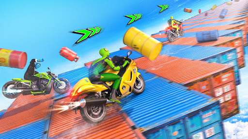 Superhero Bike Stunt GT Racing - Mega Ramp Games 1.3 screenshots 6