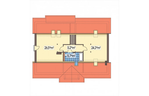 Sielanka II 35st. wersja A bez garażu z piwnicą - Rzut poddasza do adaptacji