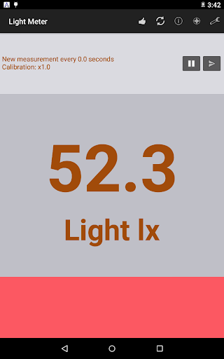 光度計 - Light Meter with graph