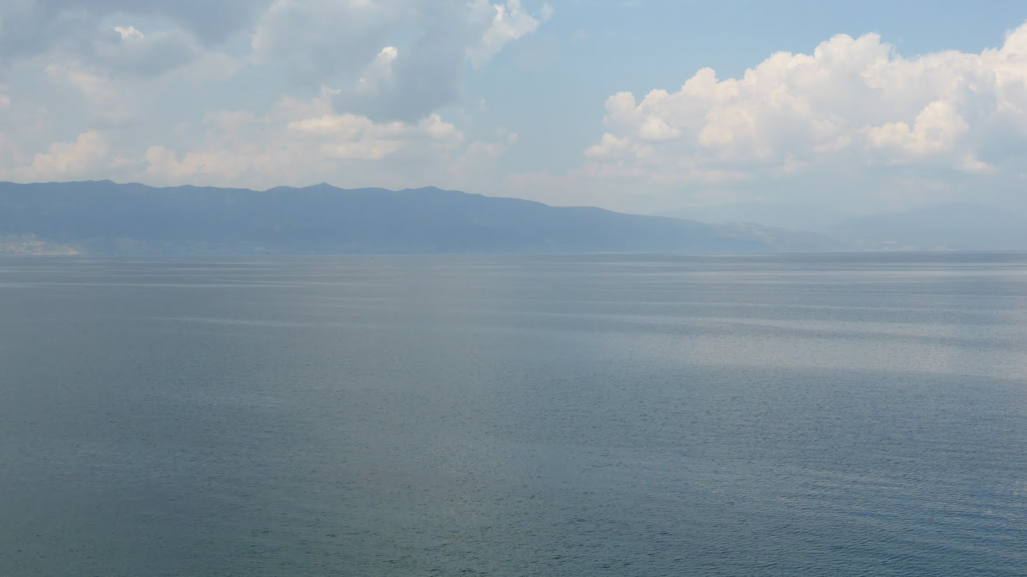 View of the Ohrid lake from the monastery's fortification walls, macedonia