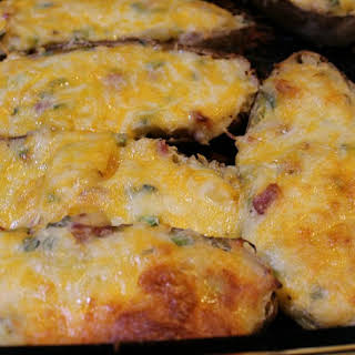 Grilled Loaded Twice Baked Potatoes.