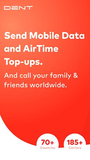 DENT - Send mobile top-up & call friends 2.3.1 screenshots 1
