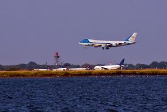 Photo: Air Force One Landing at JFK Airport