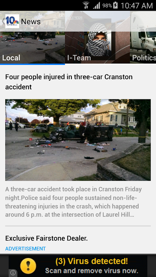 NBC 10 News App- screenshot