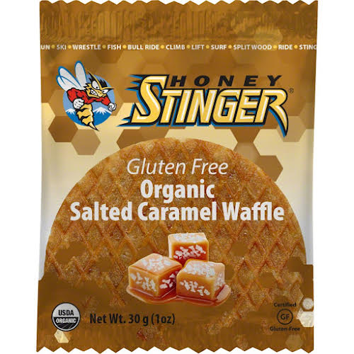Honey Stinger Gluten Free Organic Waffle: Salted Caramel, Box of 16