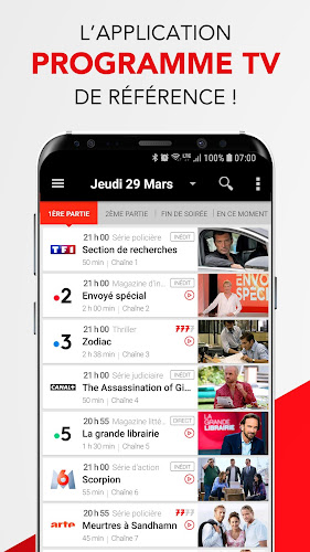 Télé 7 – Programme TV & Replay Android App Screenshot