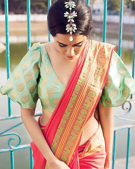 best-wedding-sarees-india-orange-saree-image