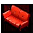クラシックレッドソファー