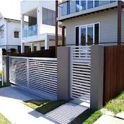 minimalist fence design icon