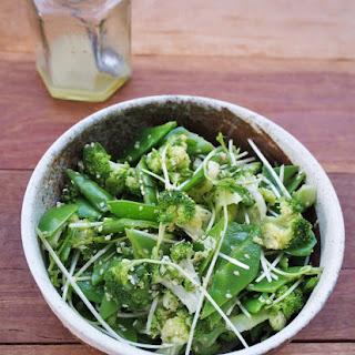 Broccoli And Snow Pea Sesame Salad.