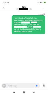 Emergency Location SMS - náhled