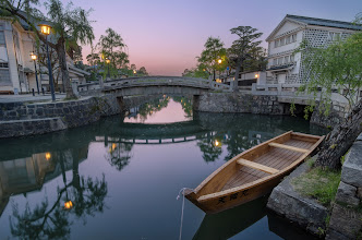 Photo: Dusk On The Canal  During my family's trip to Okayama Prefecture last week, one place I made sure to visit was the historical Bikan District of Kurashiki City. I've been here before actually, but I didn't take many photos then. While exploring online before our trip, I was surprised to find that there weren't many photos on the internet in general. So I made it my goal to capture some nice shots and share the beauty of this gorgeous section of Kurashiki. This was one of my favorite shots from the evening, but there are many more at the blog so make sure to check it out!  Blog post: http://lestaylorphoto.com/kurashiki-bikan-historical-district/  #travel #japan