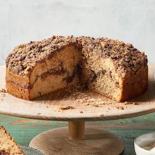 Cinnamon Chocolate Streusel Cake With Coffee Cream.