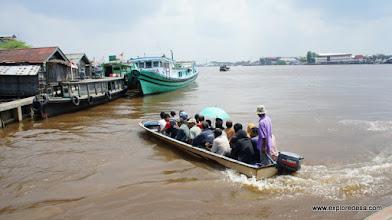 Photo: Crossing Kapuas River