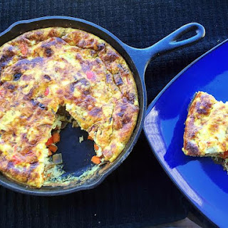 Caramelized Red Onion and Sweet Potato Frittata