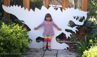 Photo: There's a dinosaur in our garden! Getting ready for Storyfest this weekend  in Hartfield in Sussex. The children will be colouring these dinosaurs with hundreds of little dinosaurs throughout the weekend!   storyfest.co.uk #childrensbooks   #festivals