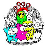 Little Monsters Coloring Book - Doodle Art Icon