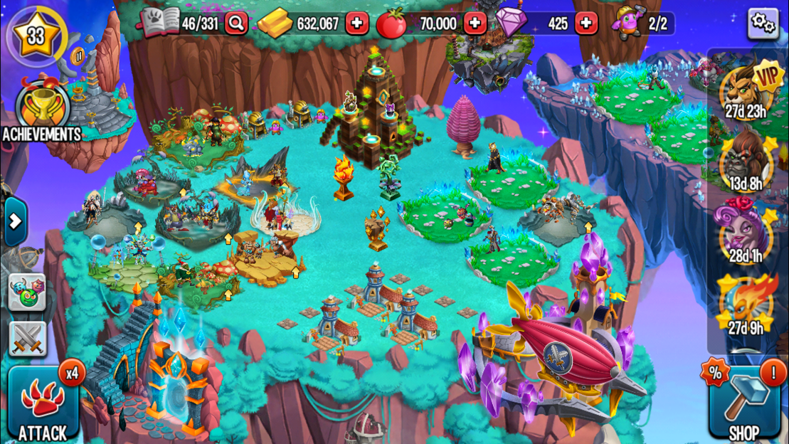 Screenshots of Monster Legends for iPhone