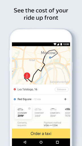 Yandex.Taxi Ride-Hailing Service - screenshot