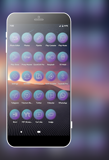 Lazer Violet Icons Pack screenshot 8