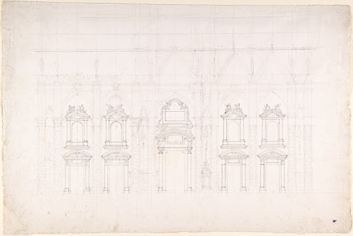 Detail study for the façade of Milan cathedral