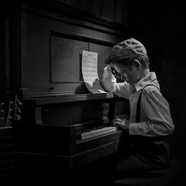 The Piano Player by Victor Sinden - Babies & Children Child Portraits