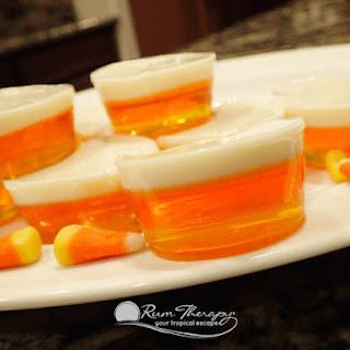 Candy Corn Jello Shots.