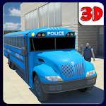 Police Truck Transporter 3D Icon