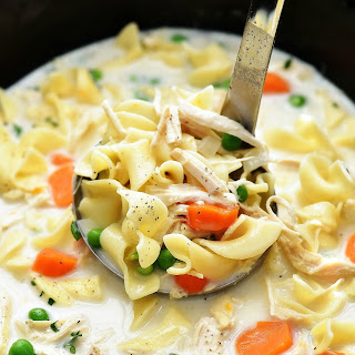 Slow Cooker Creamy Chicken Noodle Soup.