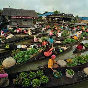 Floating Market by Niin Peweel - City,  Street & Park  Markets & Shops ( markets, city )
