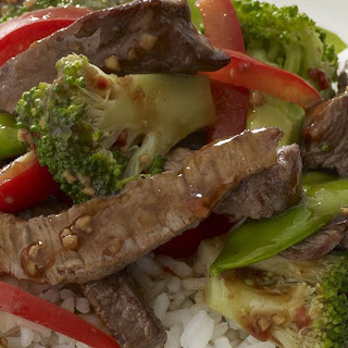 Roasted Garlic Beef and Vegetable Stir-Fry