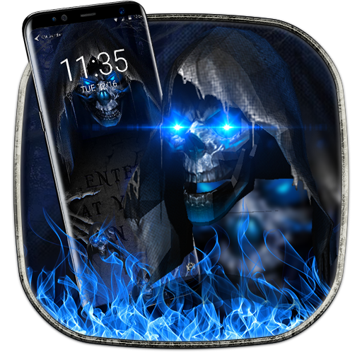 3D Grim Reaper soft screen off and lock Icon