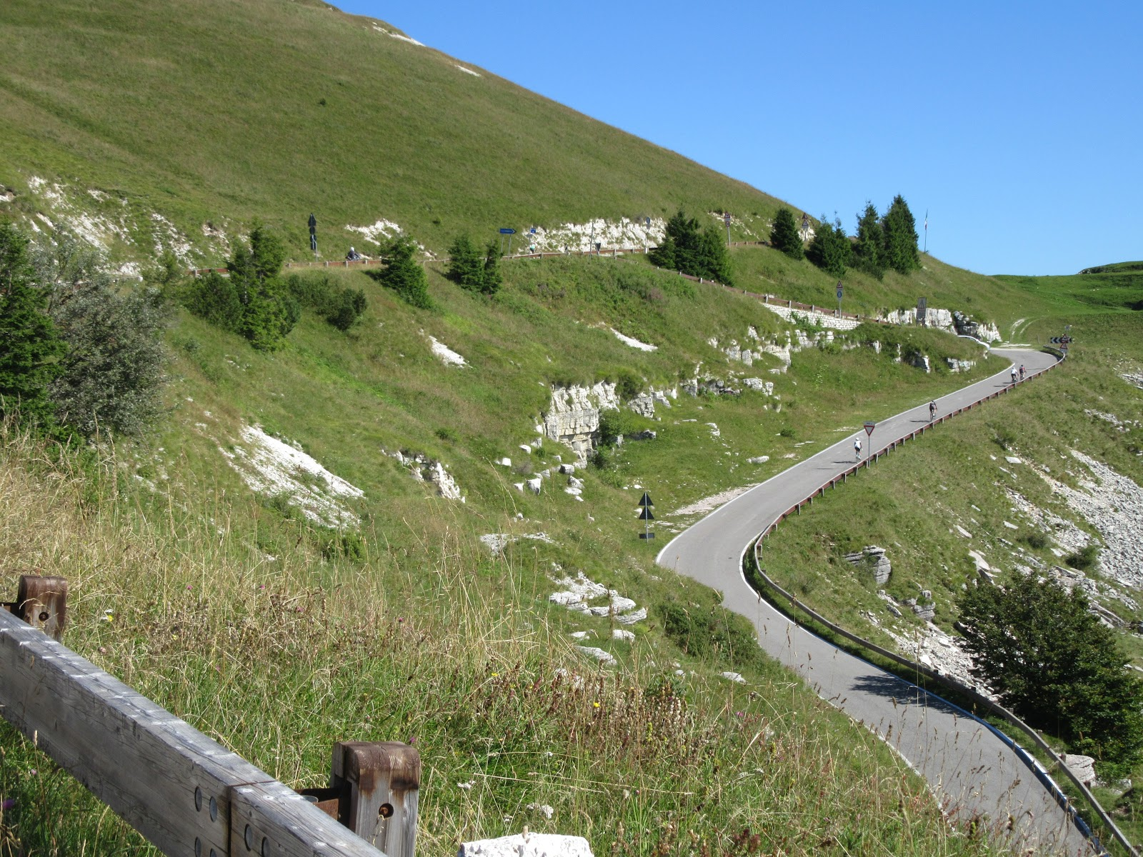 Bicycle ride Monte Grappa from Romano d'Ezzilino - road and green hills