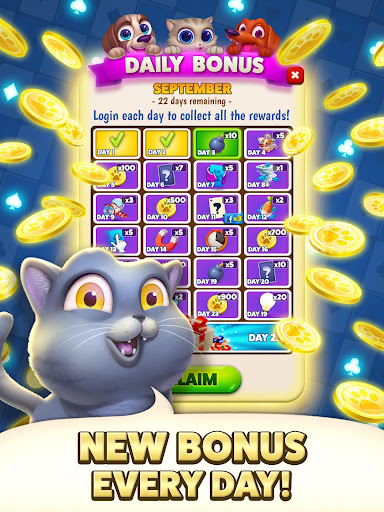 Solitaire Pets Adventure - Free Classic Card Game screenshots 10