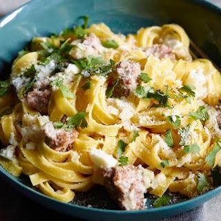 Ricotta and Sausage Pasta.