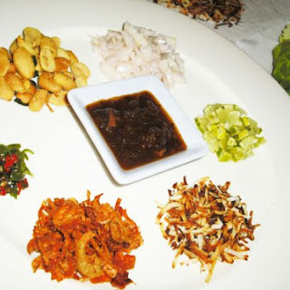 Miang Kham ( Spicy betel leaf snacks )