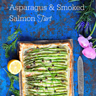 Asparagus, Smoked Salmon and Shrimp Tart Recipe
