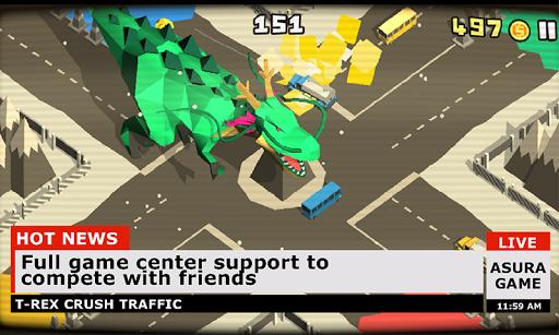 T-Rex crush traffic: Survival