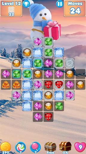 Snowman Swap - match 3 games New match 3 no wifi 1.0.7 Mod screenshots 1