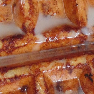 Cinnamon Roll Waffles with Cream Cheese Syrup