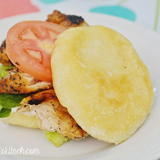 Ranch Chicken Arepa Sandwich